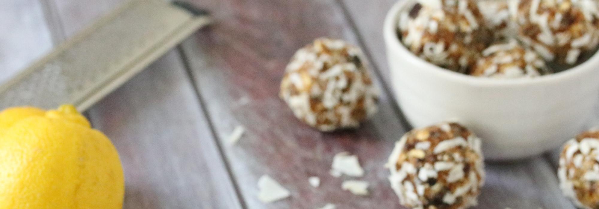 Lemon Coconut Energy Balls Recipe